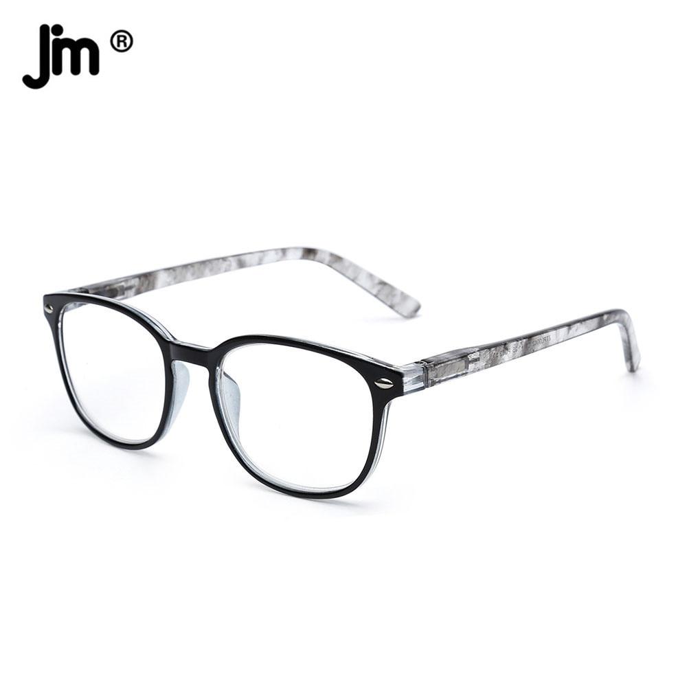 JM donna uomo occhiali da lettura con cerniera a molla lente d'ingrandimento retrò occhiali da lettura presbiti diottrie 1