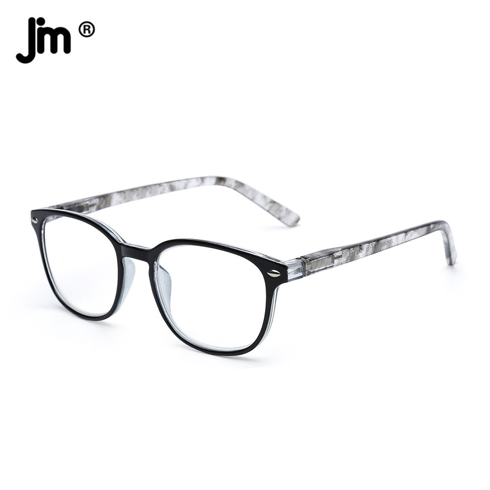 JM Women Men Spring Hinge Reading Glasses Retro Magnifier Diopter Presbyopic Reading Glasses