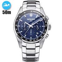 50m Waterproof Hot Dropship Full Steel Men Watch Military Wrist Watches Chronograph Fashion Men Sports Watch Relogio Masculino