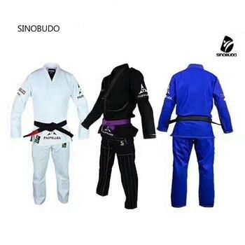 Jiu Jitsu brasileño Gi BJJ Gi para los hombres y las mujeres luchando uniforme gi Kimonos la competencia profesional Judo traje para niños adultos