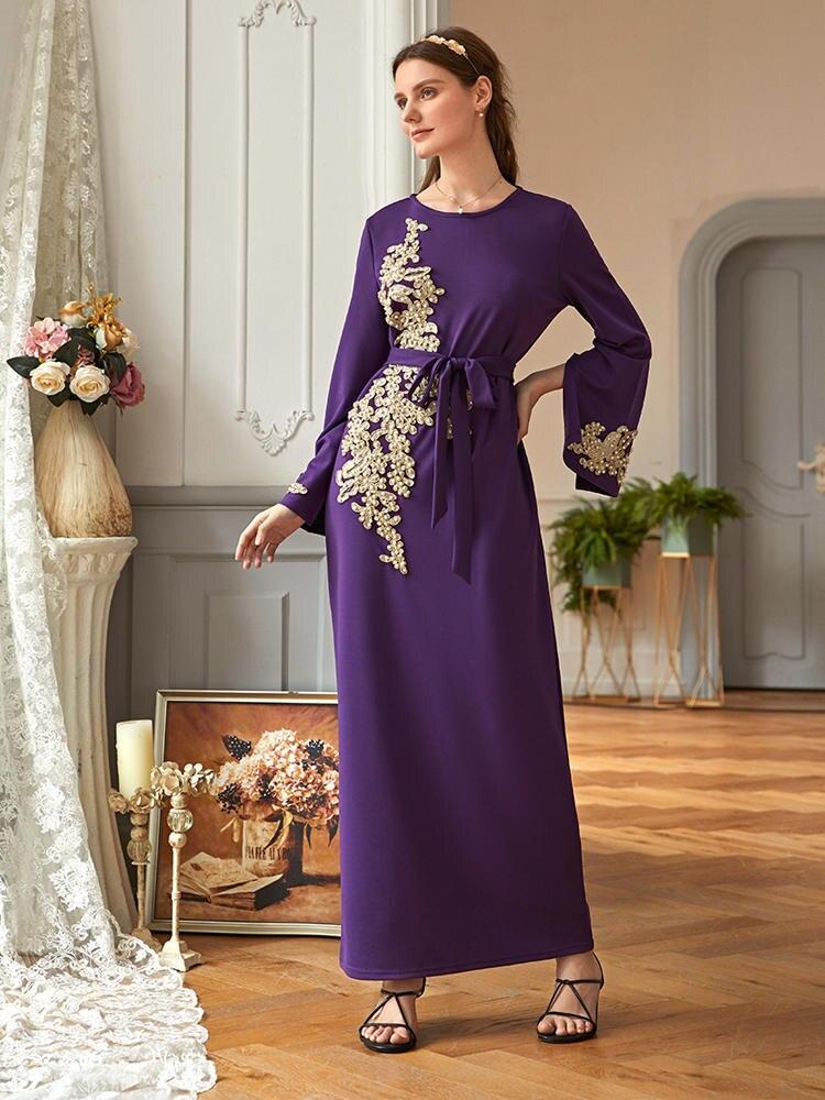 Hijab Dress Robe Kaftan Turkey Islamic-Clothing Dubai Vestidos Muslim American Femme