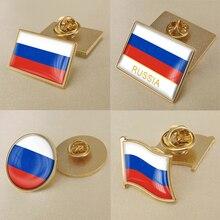 Герб Российской Федерации русские карта Национальный флаг Эмблема с национальным цветочным брошь значки нагрудные знаки