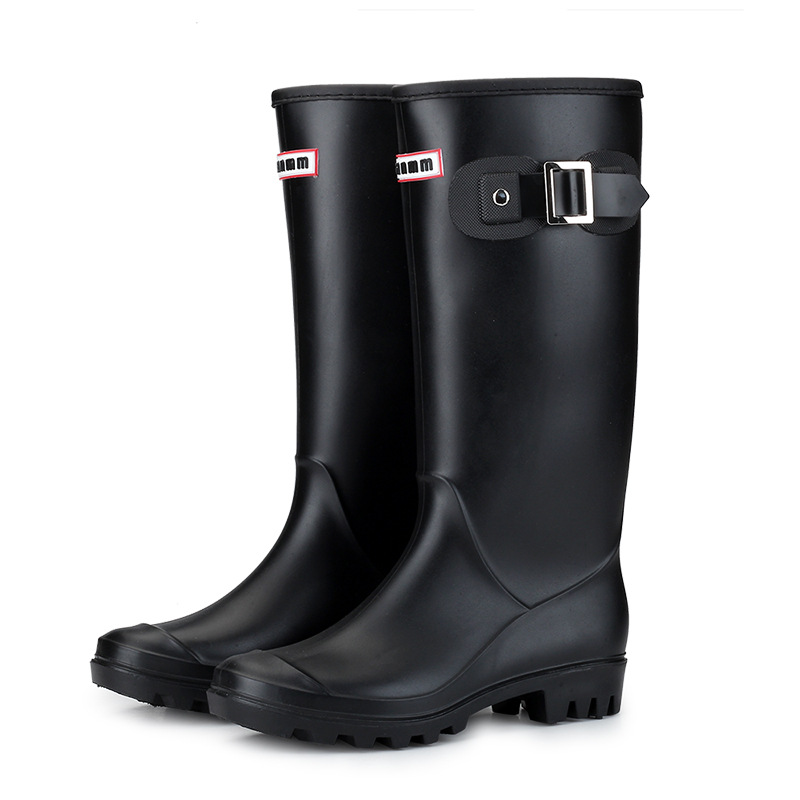 Уличная резиновая обувь для воды, Женские однотонные дождевые сапоги для женщин в стиле FemalePunk, розовые дождевые сапоги, размеры 36-41
