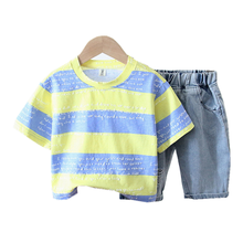 New Summer Baby Girl Clothes Suit Children Boys Clothing Cotton T Shirt Shorts 2Pcs/set Toddler Fashion Costume Kids Tracksuits summer baby toddler girl clothes t shirt skirts kids clothes sports suit for girls clothes 2pcs set children clothing 3 7 year