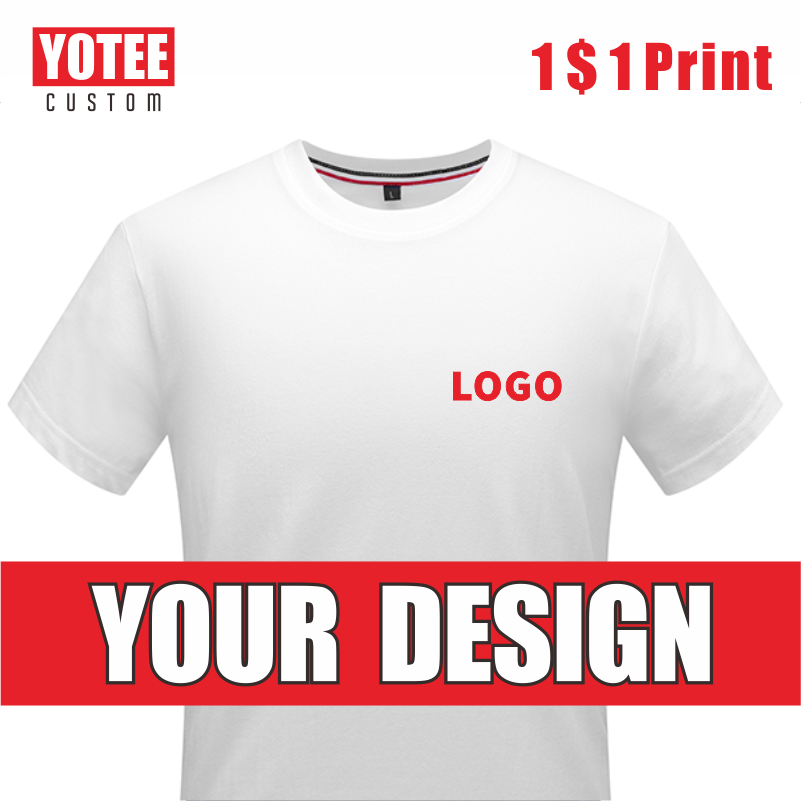 YOTEE2020 Summer Casual Cheap Short-sleeved T-shirt Cotton Round Neck LOGO Custom Men And Women T-shirt