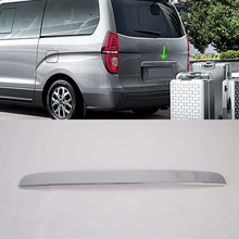 цена на Exterior ABS Car Tail Gate Trim Rear Trunk Streamer Door Molding Tailgate Strip Garnish For Hyundai H-1/Grand Starex Car-styling