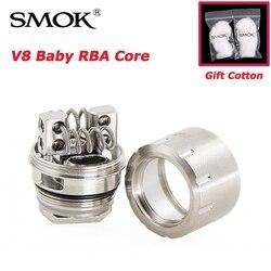 Smok v8 bebê rba bobina, para tanque de bebê de 3ml tfv8 com tubo de vidro e anéis de vedação diy bobina tfv8 bobina atomizadora de besta do bebê rba