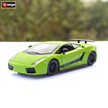 Bburago 1:24 Lamborghini Gallardo green alloy car model simulation car decoration collection gift toy цена