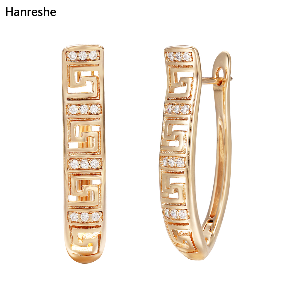 Hanreshe Copper Drop Earrings Natural Zircon Dangle Punk Jewelry  Small Crystal Drop Statement Earrings Women Gift Accessories