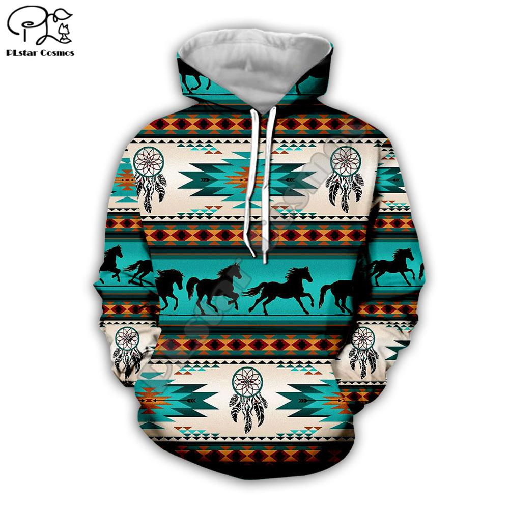 Men Women Indian Native Print 3d Hoodies Harajuku Sweatshirt Zipper Coat Unisex Streetwear Hip-hop Casual Tracksuit Pullover N3
