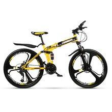 AMIN – vélo tout-terrain pliable à 24 vitesses avec cadre en acier au carbone, bicyclette de course, 26 pouces