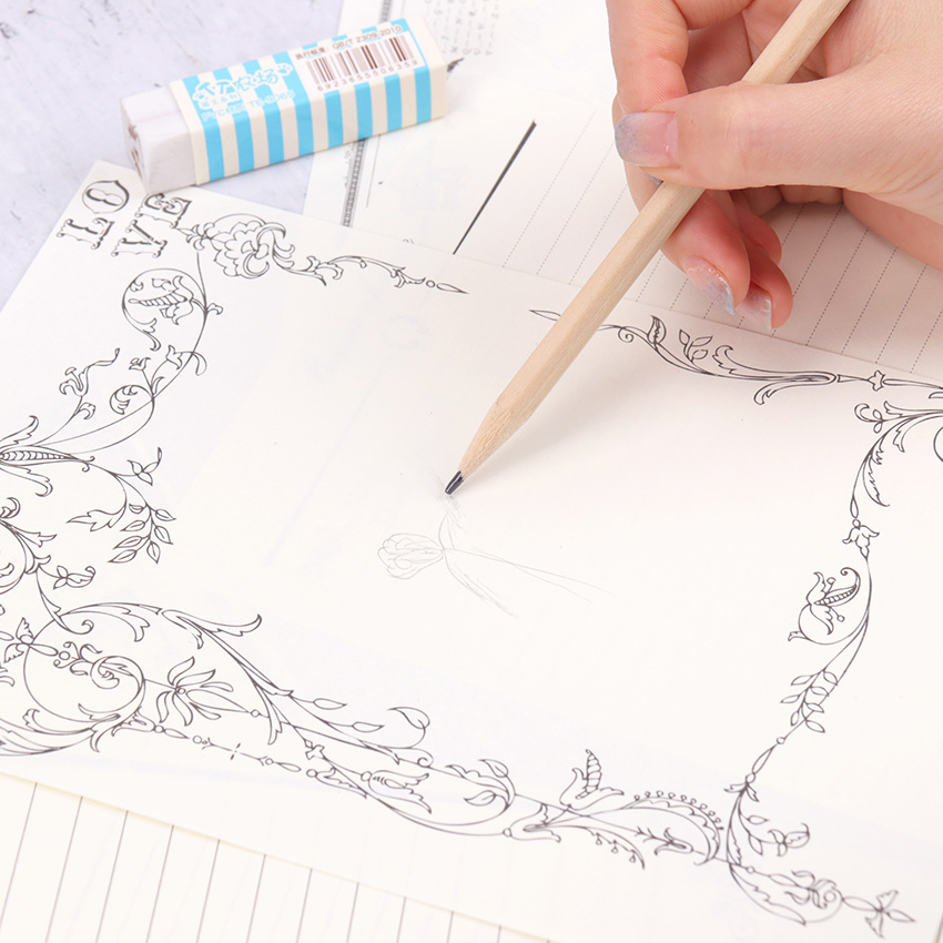 8PCS Kraft Letter Paper Vintage Design Letterhead Letter Writing Paper Letter Pad Drawing Sketch Pad Stationery