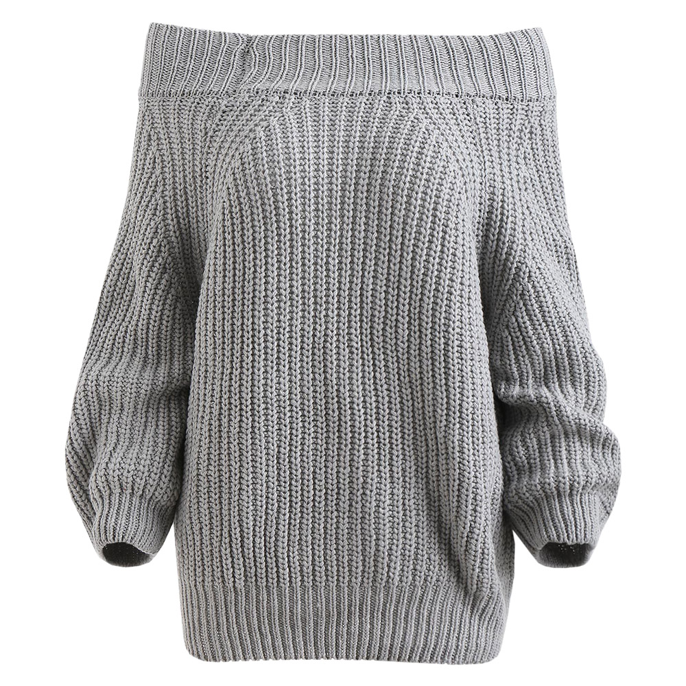 ROSEGAL Off The Shoulder Plain Sweater Women Raglan Sleeve Casual Solid Sweaters Sexy Women Clothes Pullovers Autumn Winter