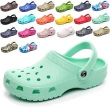 Clogs Sandals Cool-Shoes Garden Summer Flat Men's New Jelly Bottomed