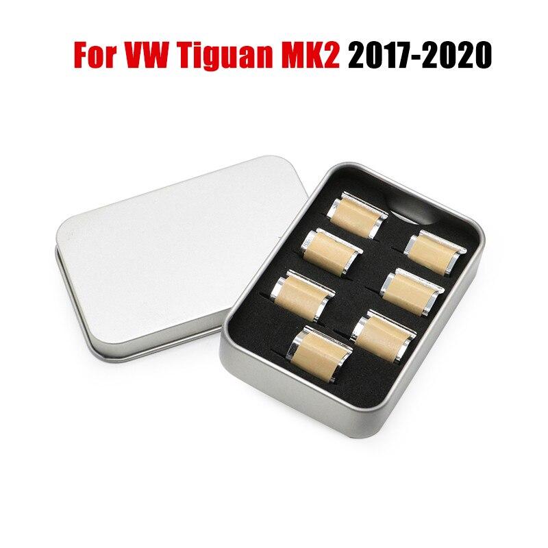 7X For Volkswagen VW Tiguan MK2 2019 2018 Car Window Lift Button Switch Sequin Trim Decorative Interior Accessories Car Styling