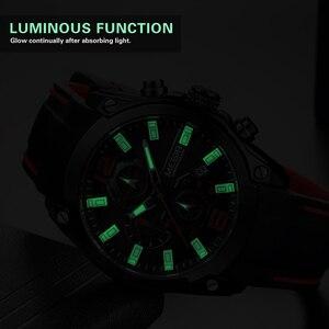 Image 5 - MEGIR Sport Watch Men Blue Silicone Chronograph Quartz Man Watches Clock Luxury Brand Wristwatch Relogio Masculino Reloj Hombre