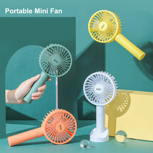 Mini Handheld Fan Portable Usb Rechargeable Battery Cooling Desktop with Base Mobile phone bracket 3 Modes for Travel Outdoor