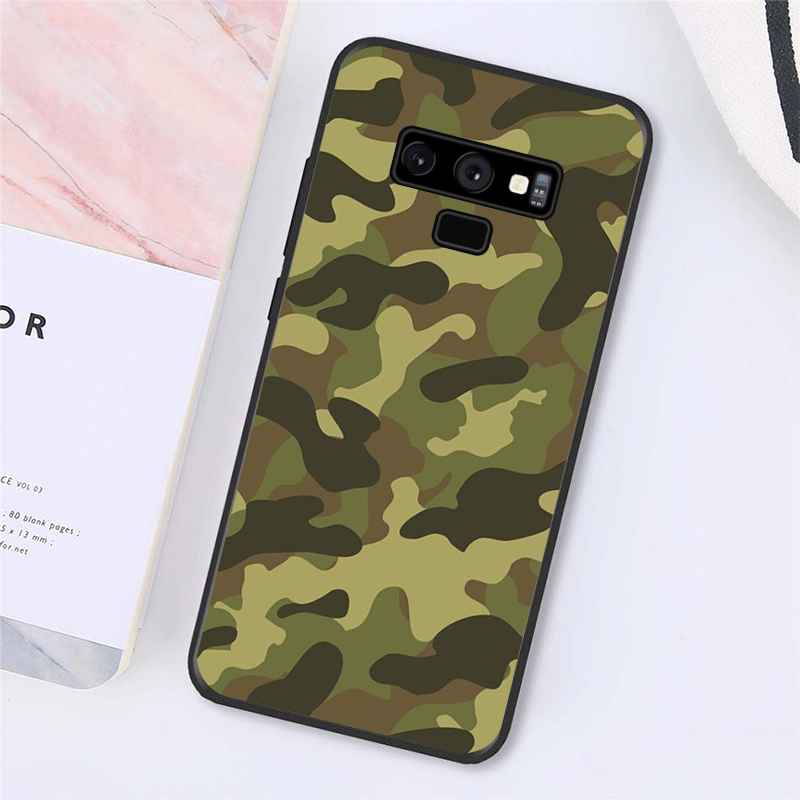 Army Green Camouflage Phone Case For Samsung Galaxy A50 Note9 8 7 5 10 Pro J5 J6 Prime J7 DUO