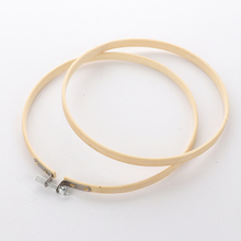 12pcs 8/10cm Wooden Embroidery Hoops Frame Set Bamboo Embroidery Hoop Rings for DIY Cross Stitch Needle Craft Tool