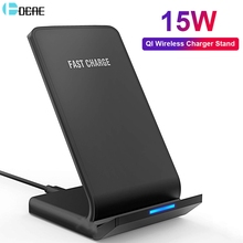 DCAE 15W Type C Qi Wireless Charger For Samsung Galaxy S20 S10 S9 Note 10 9 iPhone 11 Pro XS Max X 8 XR USB Fast Charging Stand