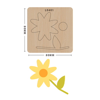 SMVAUON notatnik Die Cut Pretty DIY handmade nowe matryce do 2020 drewniany szablon do wycinania formy do wykrawania drewna tanie i dobre opinie Flower Laser mold