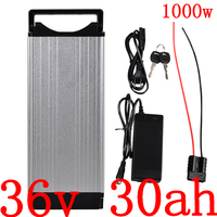 36V 1000W battery pack 36V 30AH Electric Bike Battery 36V 20AH 25AH 30AH lithium ion battery with 30A BMS+2A charger duty free