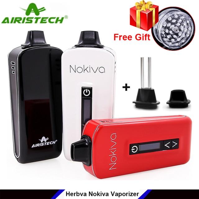 Original Airistech Herbva Nokiva Dry Herb Vaporizer Vape Pen Kit Ceramic Coil Heating Chamber OLED Touch Screen Vape Pen Kit