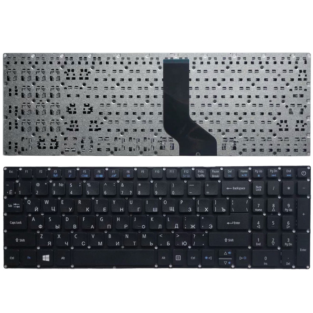 New RU Keyboard FOR Acer Aspire 3 A315-21 A315-41 A315-31 A315-51 A315-53 Russian Keyboard Black No Backlight