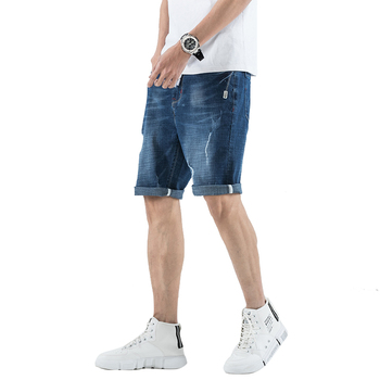 DEE MOONLY 2020 New Fashion Summer Short Jeans Trousers For Men Hot Sale Casual men shorts Denim shorts Plus Size 28-36 1