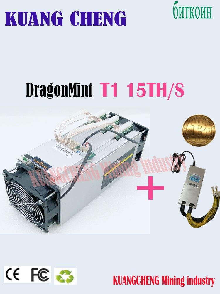Vecchio 80-90% nuovo Usato BTC BCH minatore INNOSILICON Dragonmint T1 15TH/s Un consumo energetico Inferiore rispetto Antminer s9i, circuito integrato efficiente