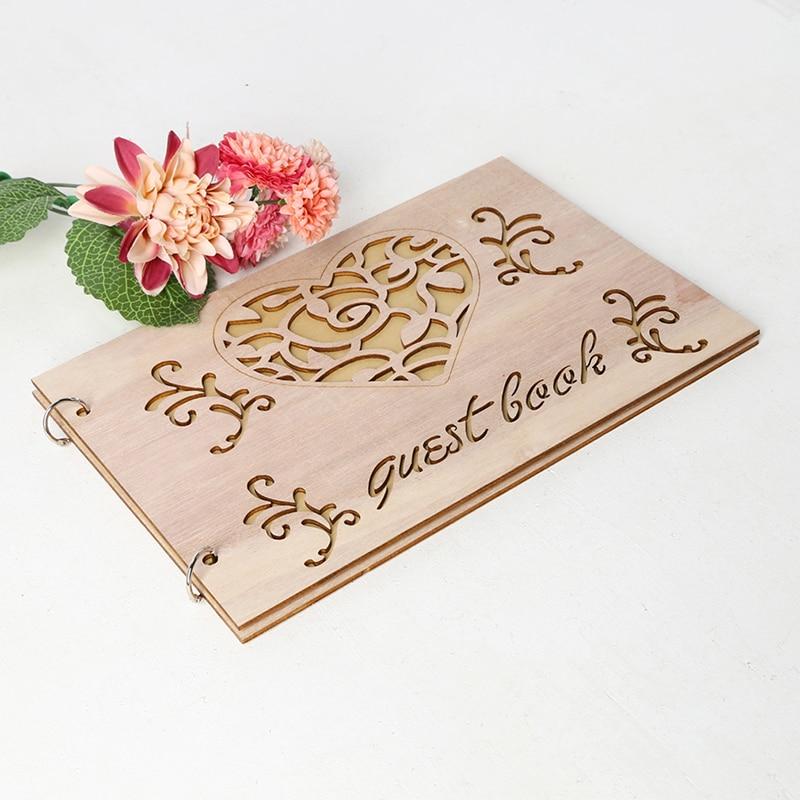 Personalised Christening Birthday Guest Book Scrapbook Album Wooden