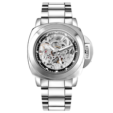 Men's Mechanical Watches With Silver Stainless Steel Strap F