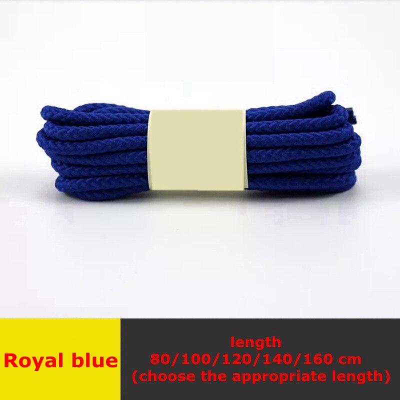 1 пара классические круглые шнурки Уличная обувь для прогулок на шнурках с белой высокой плотностью ткацкие кроссовки для отдыха шнурки унисекс - Цвет: Royal blue