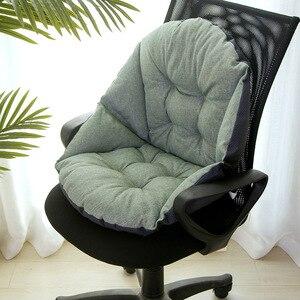 Image 2 - תלמיד פשתן ריפוד עבה חם מושב כרית המותניים משרד כרית כיסא מחשב כרית