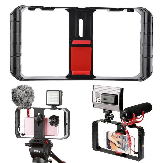 Ulanzi U Rig Pro Smartphone Video Rig 3 Hot Shoe Mounts Filmmaken Case Stabilizer Frame Stand Telefoon Beugel Voor iphone Andriod