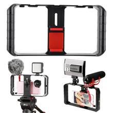 Ulanzi U-Rig Pro Smartphones 3 Hot Shoe Mounts Caso Cinema Rig Vídeo Estabilizador Quadro Suporte suporte do telefone para o iphone Andriod