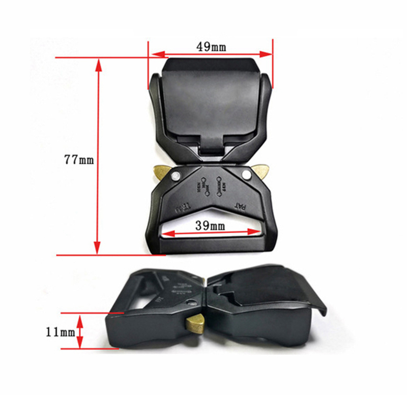 38mm Wide Mens Outdoor Quick Release Tactica Belt Buckle Aluminum Alloy Buckle For Webbing Diy Bags Luggage Outdoor Accessories