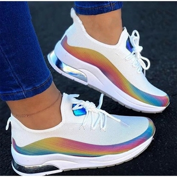 New Arrival Spring Autumn Women Casual Shoes Air Mesh Reflective Breathable Running Plus Size Women's Flats - discount item  40% OFF Women's Shoes