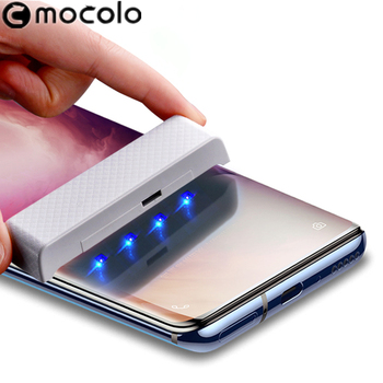 for Oneplus 7T Pro Screen Protector Mocolo Full Liquid Glued 3D Curved UV Tempered Glass for OnePlus 7 Pro Screen Protector