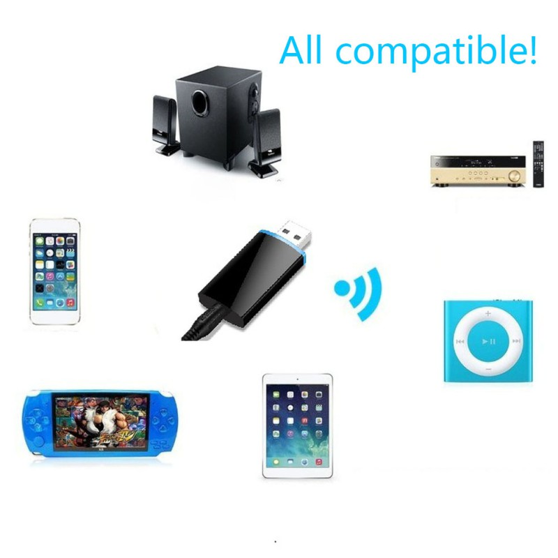 <font><b>Bluetooth</b></font> 4,1 Audio Receiver Transmitter Mini Stereo <font><b>Bluetooth</b></font> AUX USB 3.5mm Jack Für TV PC Laptop Auto Kit Wireless Adapter image