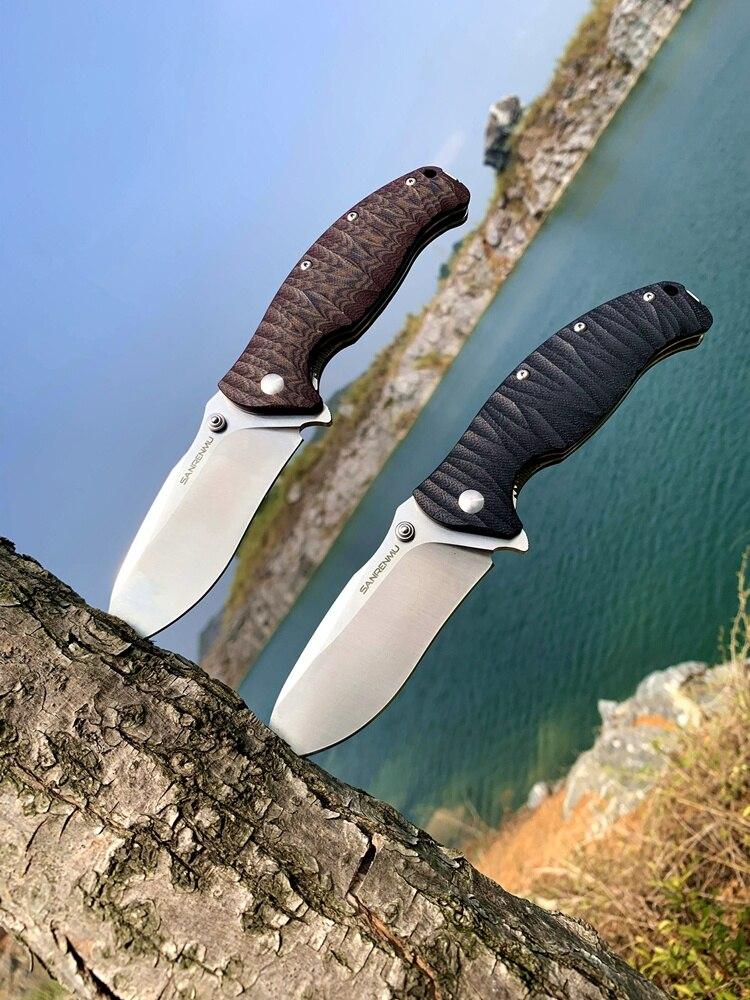 SANRENMU Folding Knife Flipper Ball-Bearing Edc-Knives Survival-Tool Pocket 14C28N Outdoor Camping