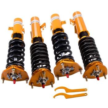 24 forma Adj. Amortiguador Coilover para Subaru Impreza WRX GC8 EJ20 EJ25 99-01 amortiguador de suspensión altura resorte resortes de bajada