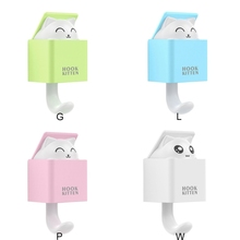 Practical Durable Cute Cat Gravity Induction Clothing Storage Hook Household