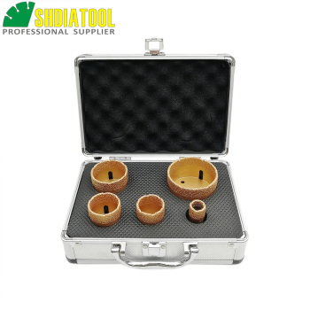 SHDIATOOL 5pcs/set Dia 20/35/40/50/68mm Vacuum Brazed Diamond Drill Bit M14 Drilling Core Bits  Marble Ceramic Hole Saw Crown dt diatool 2pcs m14 dia 12mm dry vacuum brazed diamond drill core bits ceramic tile hole saw granite marble stone drilling bits