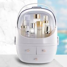 LHLYSGS Fashion Acrylic Makeup Storage Box Women Travel Waterproof Dustproof Organizer Toiletry kits Beauty Cosmetic Bag