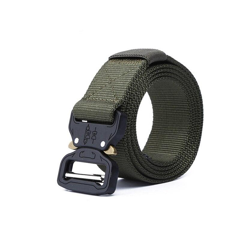 Тактический ремень для спорта на открытом воздухе, нейлоновые поясные ремни с аксессуарами для охоты, армии, тяжелая тренировочная Боевая Мужская Военная - Color: Army green belt