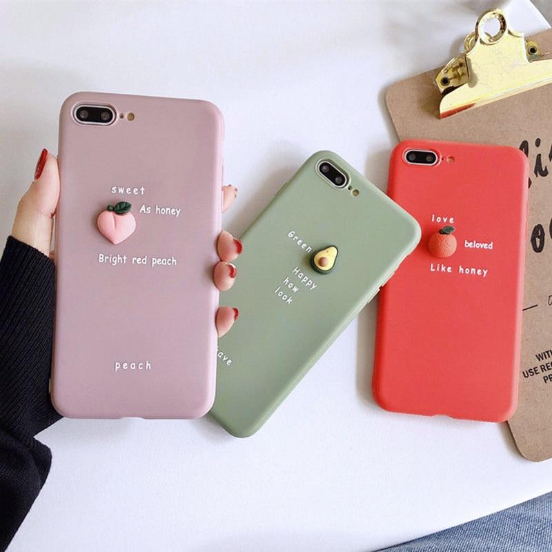 3D Candy Color Avocado Case For Xiaomi Redmi Note 8T 4A 4X 5A 6A 7A 8A 5 Plus 6 Pro GO Note 7 8 S2 9S 9 Max Plain Cover Soft