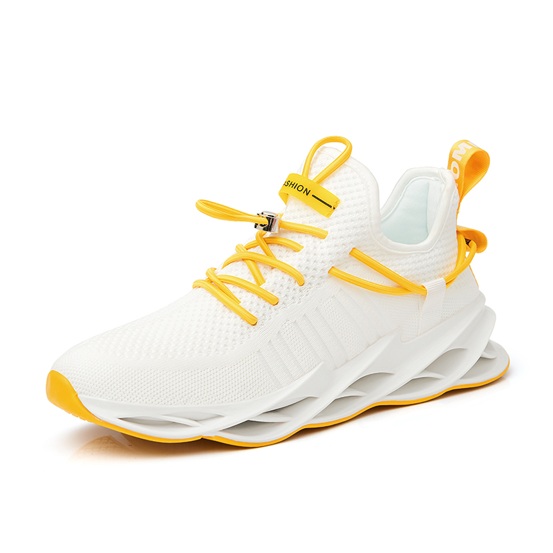 Net-side Men's Shoes Light Shock-absorbing Running Shoes Spring Breathable Casual  2020 New Large-size Shoes Men's Hip-shoes