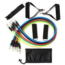 11 pçs bandas elásticas equipamentos de fitness força muscular yoga treinamento corda bandas da resistência sportshome workout fitness extrator