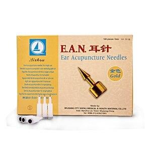 Image 1 - 100 sztuk/pudło akupunktura ucha igły sterylne uszne akupunktura ucha igły punktów akupunktury do jednorazowego użytku